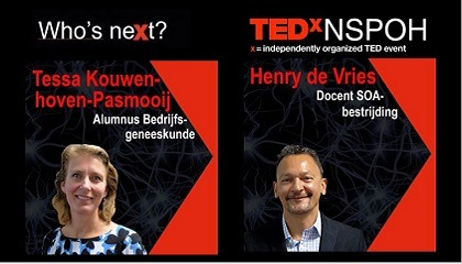 Twee sprekers TEDxNSPOH